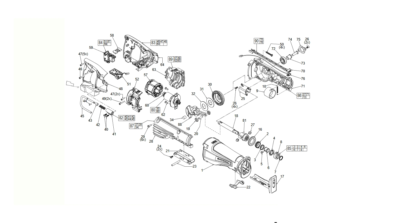 Stupendous Spare Parts Milwaukee Spare Parts Cordless Tools Pdpeps Interior Chair Design Pdpepsorg